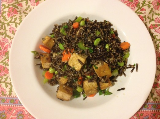 wild rice and tofu