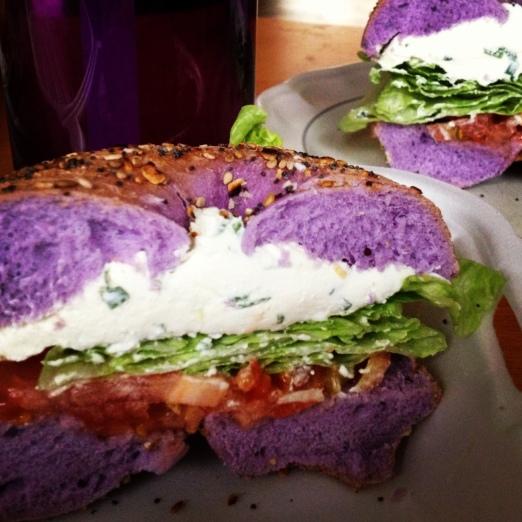 purple bagel