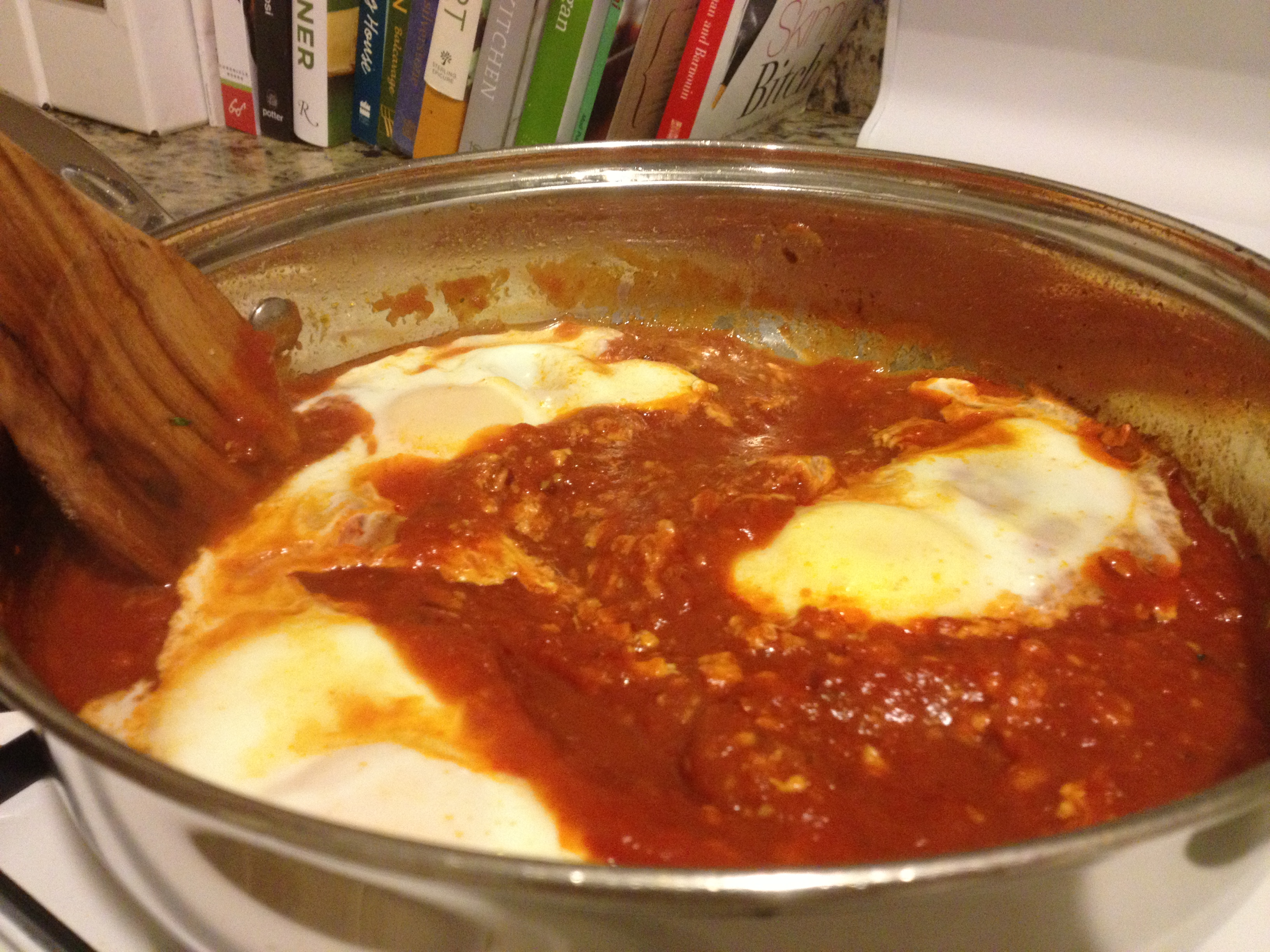 POACHED EGGS IN TOMATO SAUCE | Soup Du Jour